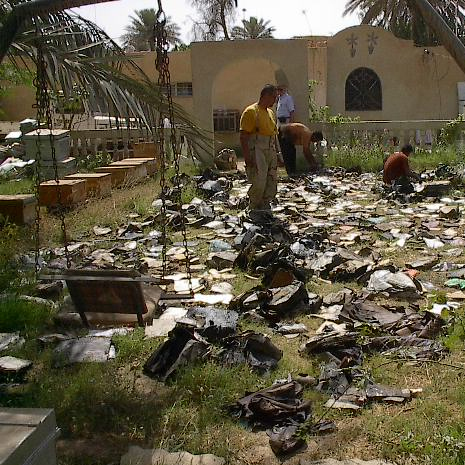 Books Drying From the Flood