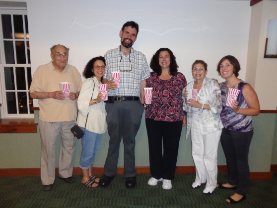 Library Committee with Rabbi and Wife
